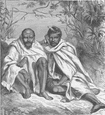 INDIA: Khond Chiefs,  antique print 1891